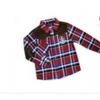 Quality Red And Blue Custom Casual Cotton Kids Plaid Shirt  for Toddler , Long Sleeve Check Shirts for sale