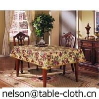 China Pvc tablecloth with golden lace edgeG2068-007 on sale