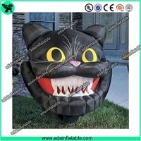 Quality Inflatable Cat Mascot, Inflatable Cat Head, Evil Inflatable Cat for sale