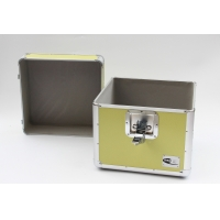 Buy cheap LP 12'' aluminum carry case yellow DVD storage box aluminum ABS diamond portable from wholesalers