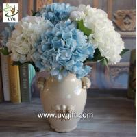 Quality UVG FHY25 decoration of houses interior wholesale artificial hydrangea flowers for parties for sale