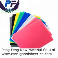 Buy cheap 2-12 mm white/black/blue/yellow/green color polypropylene corflute plastic corrugated sheet for packing industry from wholesalers