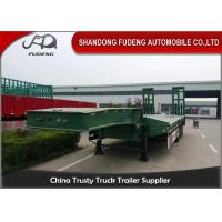 Buy cheap Heavy Duty Truck transportation 80 ton Lowbed Semi Trailer Trucks And Trailers from wholesalers