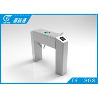 304 stainless steel waist high turnstile with rfid / barcode / fingerprint access control system