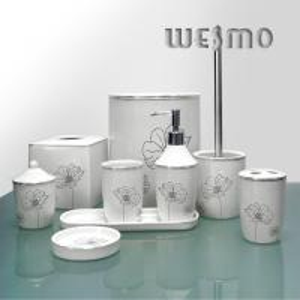 Quality Modern Home 9 Piece White Ceramic Bathroom Accessory Sets for sale