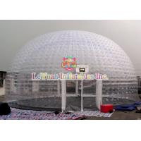Buy cheap Transparent Airtight Tent , Inflatable Exhibition Tent For Outdoor Advertising product