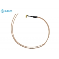 Quality Smb Female Right Angle Jack Junction Box Cable With 2 Co-Ax Pigtail RG316 Cable for sale