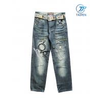 Quality Long Infants New Fashion Cotton Denim Toddlers Skinny Jeans With Elastic Waist for sale