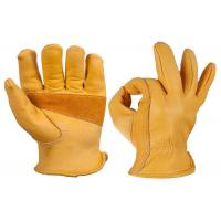 China Construction Leather Safety Gloves , Split Leather Work Gloves S - 2XL on sale