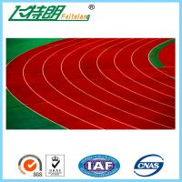 Quality Self - knot Pattern Jogging Track Material , 13MM Rubberized Outdoor Athletics Track for sale
