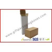Quality E Flute Custom Cup Corrugated Paper Box , White / Brown Carton Packing Boxes in Market for sale