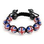Quality Crystal shamball bead flag jewelry Shamballa Bead Bracelet flag for England NP10071 for sale