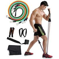 China 11pcs Resistance Bands Set-Exercise Bands with Door Anchor Handles Fitness Rally Pull Rope for Physical Therapy on sale