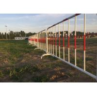Buy cheap Crowd Control Barriers I Hot Galvanized Steel Construction Barricades from wholesalers