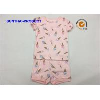 China Ice Cream Printed Baby Clothes Sets , Toddler Girl Summer Sets OEM / ODM Available on sale