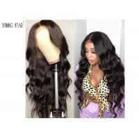Quality Pre Plucked Body Wave Lace Front Wigs Brazilian Hair 13 X 4 Big Closure for sale