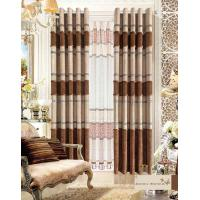 Quality America Style Jacquard Luxury Ready Made Curtains , Polyester Modern Window Curtain for sale