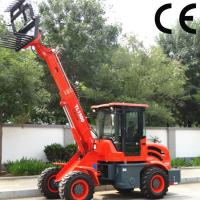 Quality popular used telescopic wheel loader TL1500 with sand spreader, 1.5 ton mini backhoe loade for sale