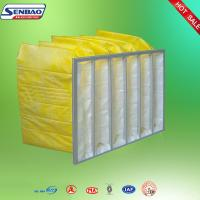 Quality Portable F8 Yellow Pocket Synthetic Fiber Air Filters Low Initial Resistance for sale