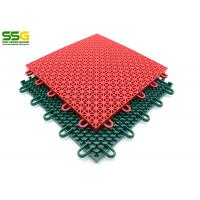 Buy Suspended Outdoor Interlocking Rubber Floor Tiles , Basketball Plastic Sport at wholesale prices