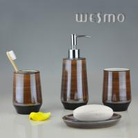 Quality OEM Chocolate Color Porcelain Bathroom Accessories With Pearlized Colors ( WBC0618C ) for sale