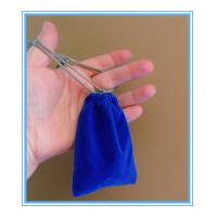 Buy cheap Sewing By Hand Royal Blue Mini Velvet Drawstring Bag , Velour Bag For Gift from wholesalers