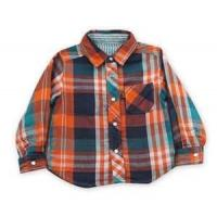 China 100% cotton Yarn Dyed flannel kids long sleeve plaid shirts, designer childrens clothes on sale