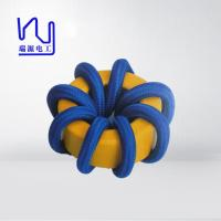 Quality 2 - 4000 Strands High Frequency Copper Litz Wire Blue Color Wrapped Teflon Insulation for sale