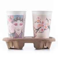 Disposable Take Away Coffee Cup Carrier Paper Pulp For 2 Cups 4 Cups Stable
