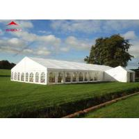 Quality 300 Seater Outdoor Event Tent With Transparent PVC Window / Large Garden Wedding Tent for sale
