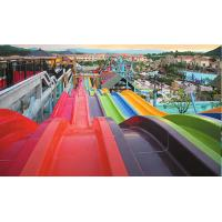 Quality Amusement Park Big Water Slides Custom Size With Water Pump Accessories for sale