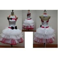 China White and Pink Fashion Halter Ball Gown Mini Length Masquerade Prom Dresses on sale