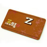 China custom printing genuine leather clothing size labels leather suitcase tags badge on sale