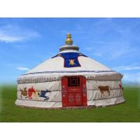 Quality 4m Diameter Mongolian Domed Tent/ Yurt Camping Tent For Living Or Catering for sale