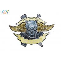 Quality Polyester Fabric Irregular Custom Motorcycle Patches Embroidered Logo for sale