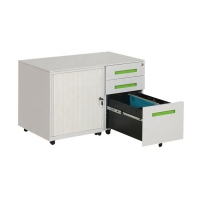 Quality Light Grey H600mm W900mm Tambour Filing Cabinet for sale