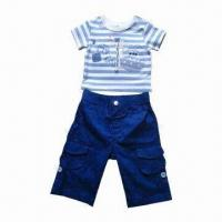 Quality Baby Clothing Set for Boy, Good in Summer Season, Consists of Top/Pants, Ideal for 3 to 24 Months for sale