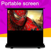 China Cynthia Floor Stand Pull Up Projector Screens Portable Scissor Roll Up Projection Screen on sale
