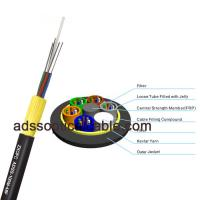 Quality Armored Outdoor Fiber Optic Cable , ADSS Long Aerial Cable Above 10 Conductors for sale
