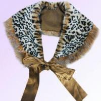 Quality Leopard Pattern Fur Scarf Made of Polyester for sale