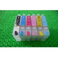 Quality Black Plotter T080 T0801 T0802 Refillable Printer Ink Cartridges for Desktop Epson R265 for sale