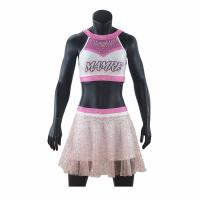 China Adults Cheerleader Warm Up Suits Crop And Pleated Skirt Anti Bacterial on sale