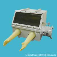 China Compact Stainless Steel Vacuum Glove Box (22x17x16) with Vacuum Flange & Gauge - VGB-1 on sale
