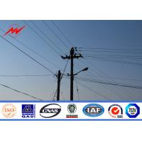 Quality Round Tapered Polygonal Galvanised Steel Pole For Electrical Transmission for sale