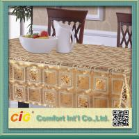 Quality Custom Printed Popular Modern PVC Table Cloths with Non-woven Fabric Backing for sale