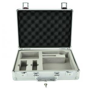 Quality Alu storage case die cut foam inside silver aluminum panel light weight carry box for sale