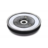 Quality Black Flanged Pulley Guide With Ceramic Coating / Bearing Wire Guide for sale