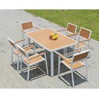 Buy Hot sale imitative wood chair Outdoor Garden furniture sets Coffe table poly at wholesale prices