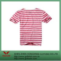 Quality Stripes Men's T Shirt With Pink&white Design for sale