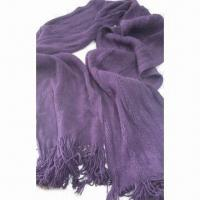 Quality Knitted Scarves, Made of 100% Acrylic, Fashionable Design for sale